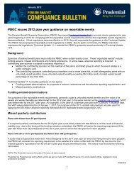 PBGC issues 2012 plan year guidance on reportable events