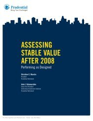 Assessing stAble VAlue After 2008 - Prudential Retirement