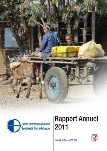 Rapport Annuel 2011 - Solidarität Dritte Welt