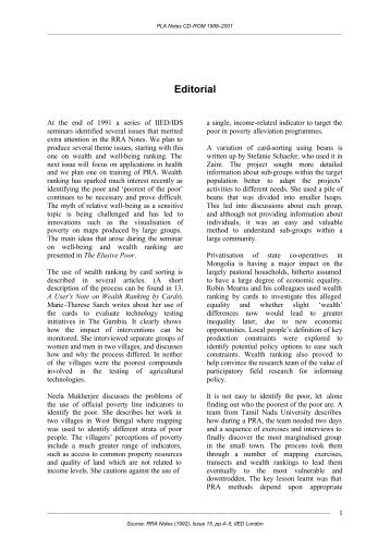 Editorial - IIED - International Institute for Environment and ...