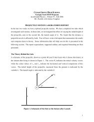 Projectile Motion Lab Handout - Singhose