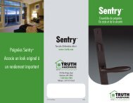 Poignées Sentry™ Associe un look original à un ... - Truth Hardware