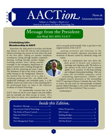 March - The American Academy of Clinical Toxicology