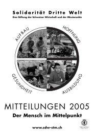 Mitteilungen 2005 - Solidarität Dritte Welt