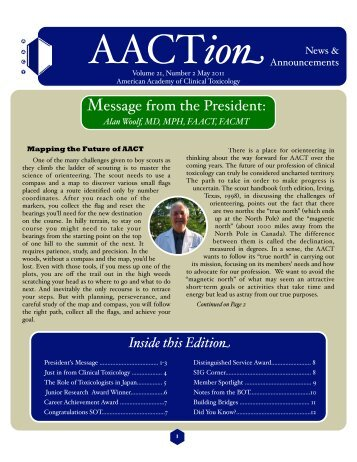 AACT May 2011 - The American Academy of Clinical Toxicology