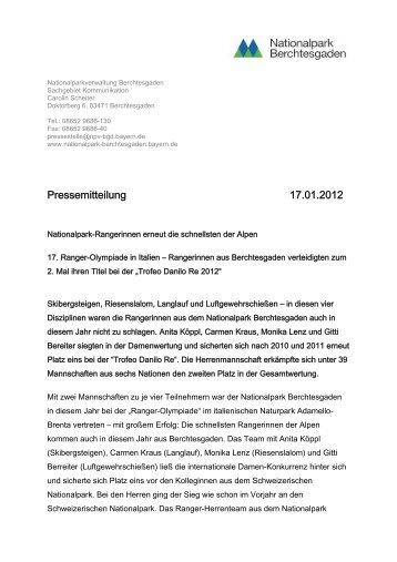 17. Trofeo Danilo Re im Park Adamello - Nationalpark Berchtesgaden
