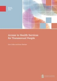 Access to Health Services for Transsexual People - Equality Authority