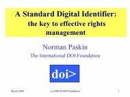 A Standard Digital Identifier: - DOIs