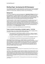 developing the DOI Namespace - DOIs