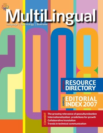 01 Resource Directory RD08 - B.indd - MultiLingual Computing, Inc.