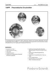 139PP Pneumatischer Druckmittler - FOXBORO ECKARDT GmbH