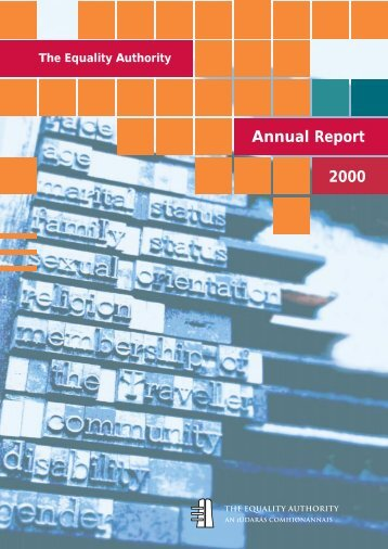 Annual Report 2000.pdf (size 2.3 MB) - Equality Authority