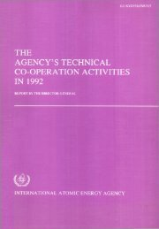 the agency's technical co-operation activities in 1992 - IAEA