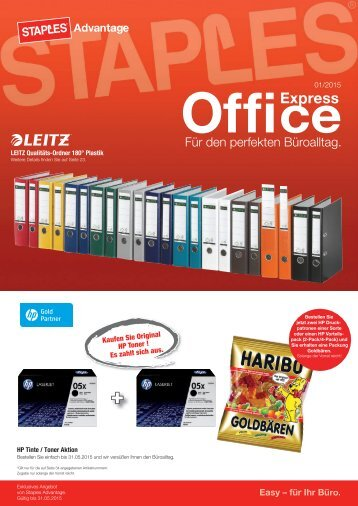 EO Aktionsflyer Staples Advantage