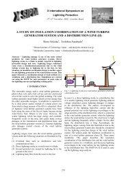 A STUDY ON INSULATION COORDINATION OF A WIND TURBINE ...