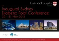 Diabetic Foot Conference Inaugural Sydney - The Endocrine Society ...