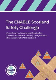 Download the ENABLE Scotland Safety Challenge information pack