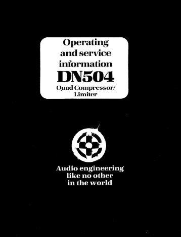 Klark Teknik DN504 User Manual (PDF) - Wiki