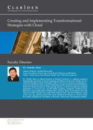 Creating and Implementing Transformational ... - Clariden Global