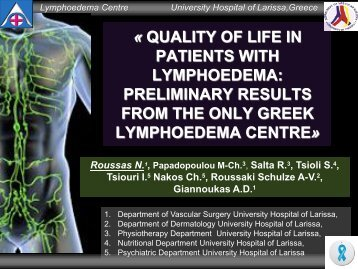 Quality of Life in Patients with Lymphoedema - Iua2012.org
