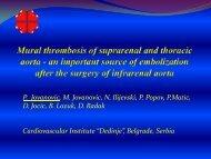 Mural Thrombosis of Suprarenal and Thoracic Aorta - Iua2012.org
