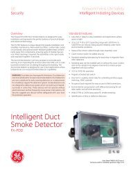 Data Sheet FX85001-0613 -- Intelligent Duct Smoke Detector