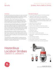 Data Sheet FX85001-0586 -- Hazardous Location Strobes