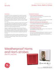 Data Sheet FX85001-0341 -- Weatherproof Horns and Horn-strobes