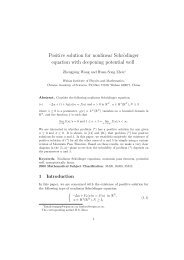 Positive solution for nonlinear Schrödinger equation with deepening ...