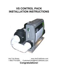 vs control pack installation instructions - Hot Tub Works