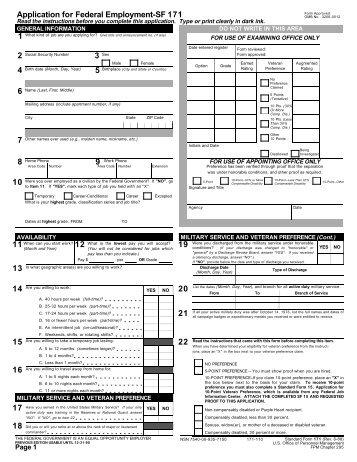 Standard Form 1 71 -A - Continuation Sheet for SF 171 OMB ...