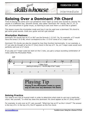 The Dominant Seventh Chord