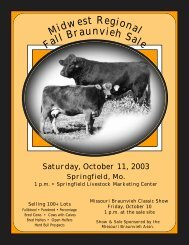 1 - Missouri Braunvieh Association
