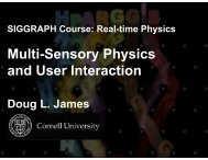 Multi-Sensory Physics and User Interaction