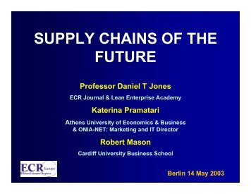 SUPPLY CHAINS OF THE FUTURE - Lean  Enterprise Academy