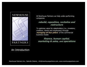 An Introduction - Newhouse Partners Inc.
