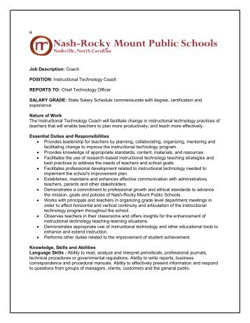 Pyp Learning Technology Coach Job Description And Person