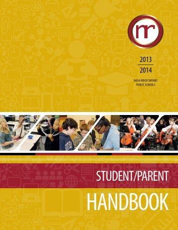 2013-14 Student/Parent Handbook - Nash-Rocky Mount Schools