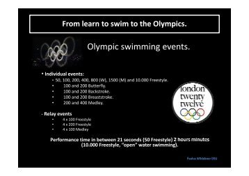 Olympic swimming events. - One