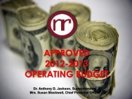 Information regarding 2012-2013 Approved Operating Budget