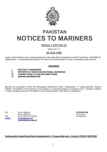 NOTICES TO MARINERS