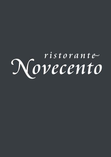 Novecento | Menukaart
