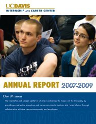 ANNUAL REPORT - UC Davis / Internship and Career Center