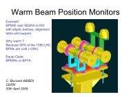 Warm Beam Position Monitors - CERN
