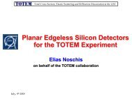 Planar Edgeless Silicon Detectors for the TOTEM Experiment - CERN