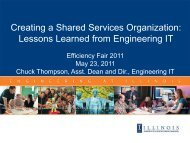 Creating a Shared Services Organization: Lessons Learned from ...