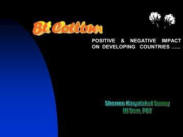 Bt Cotton - (CUSAT) – Plant Biotechnology laboratory
