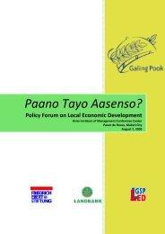 [Year] Paano Tayo Aasenso? - Galing Pook Foundation