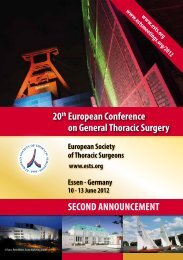 14 February 2012  - European Society of Thoracic Surgeons