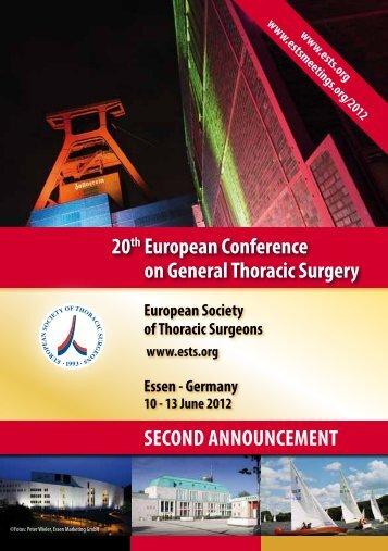 14 February 2012  - European Society of Thoracic Surgeons